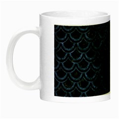 Scales2 Black Marble & Blue Stone Night Luminous Mug by trendistuff