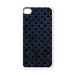 Scales2 Black Marble & Blue Stone Apple Iphone 4 Case (white) by trendistuff