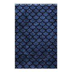Scales1 Black Marble & Blue Stone (r) Shower Curtain 48  X 72  (small) by trendistuff