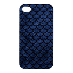 Scales1 Black Marble & Blue Stone (r) Apple Iphone 4/4s Hardshell Case by trendistuff