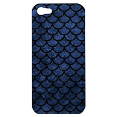Scales1 Black Marble & Blue Stone (r) Apple Iphone 5 Hardshell Case by trendistuff