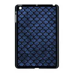 Scales1 Black Marble & Blue Stone (r) Apple Ipad Mini Case (black) by trendistuff
