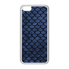 Scales1 Black Marble & Blue Stone (r) Apple Iphone 5c Seamless Case (white) by trendistuff