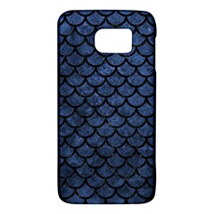 Scales1 Black Marble & Blue Stone (r) Samsung Galaxy S6 Hardshell Case  by trendistuff