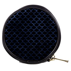 Scales1 Black Marble & Blue Stone Mini Makeup Bag by trendistuff