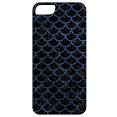 Scales1 Black Marble & Blue Stone Apple Iphone 5 Classic Hardshell Case by trendistuff