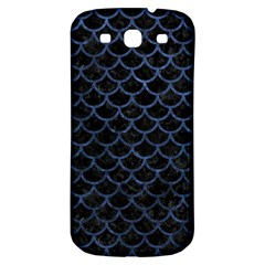 Scales1 Black Marble & Blue Stone Samsung Galaxy S3 S Iii Classic Hardshell Back Case by trendistuff