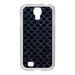 Scales1 Black Marble & Blue Stone Samsung Galaxy S4 I9500/ I9505 Case (white) by trendistuff