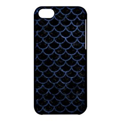 Scales1 Black Marble & Blue Stone Apple Iphone 5c Hardshell Case by trendistuff