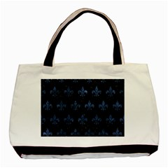 Royal1 Black Marble & Blue Stone (r) Basic Tote Bag (two Sides) by trendistuff