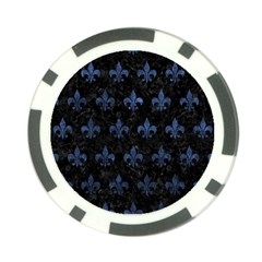 Royal1 Black Marble & Blue Stone (r) Poker Chip Card Guard (10 Pack) by trendistuff
