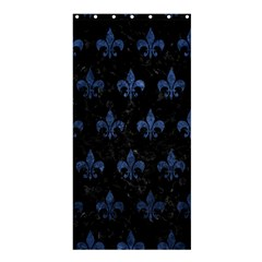 Royal1 Black Marble & Blue Stone (r) Shower Curtain 36  X 72  (stall) by trendistuff