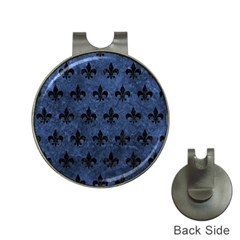 Royal1 Black Marble & Blue Stone Golf Ball Marker Hat Clip by trendistuff