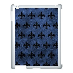 Royal1 Black Marble & Blue Stone Apple Ipad 3/4 Case (white) by trendistuff