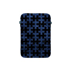 Puzzle1 Black Marble & Blue Stone Apple Ipad Mini Protective Soft Case by trendistuff