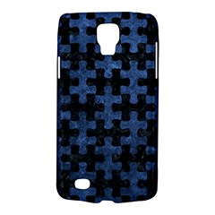 Puzzle1 Black Marble & Blue Stone Samsung Galaxy S4 Active (i9295) Hardshell Case by trendistuff