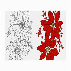 Poinsettia Flower Coloring Page Small Glasses Cloth (2 Side) by Simbadda