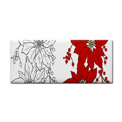Poinsettia Flower Coloring Page Cosmetic Storage Cases by Simbadda