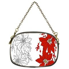 Poinsettia Flower Coloring Page Chain Purses (two Sides)