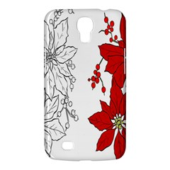 Poinsettia Flower Coloring Page Samsung Galaxy Mega 6 3  I9200 Hardshell Case by Simbadda