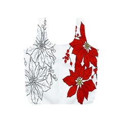 Poinsettia Flower Coloring Page Full Print Recycle Bags (s)  by Simbadda