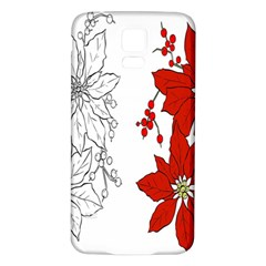 Poinsettia Flower Coloring Page Samsung Galaxy S5 Back Case (white) by Simbadda