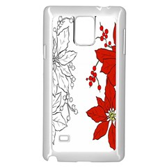 Poinsettia Flower Coloring Page Samsung Galaxy Note 4 Case (white) by Simbadda