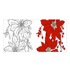 Poinsettia Flower Coloring Page Satin Shawl