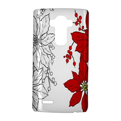 Poinsettia Flower Coloring Page Lg G4 Hardshell Case by Simbadda