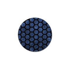Hexagon2 Black Marble & Blue Stone (r) Golf Ball Marker (4 Pack) by trendistuff