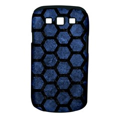 Hexagon2 Black Marble & Blue Stone (r) Samsung Galaxy S Iii Classic Hardshell Case (pc+silicone) by trendistuff