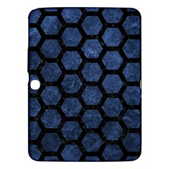 Hexagon2 Black Marble & Blue Stone (r) Samsung Galaxy Tab 3 (10 1 ) P5200 Hardshell Case  by trendistuff