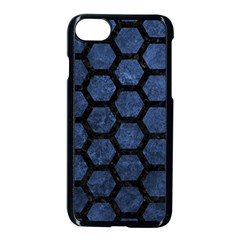 Hexagon2 Black Marble & Blue Stone (r) Apple Iphone 7 Seamless Case (black) by trendistuff