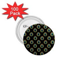 Peacock Inspired Background 1 75  Buttons (100 Pack)