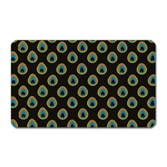 Peacock Inspired Background Magnet (rectangular) by Simbadda