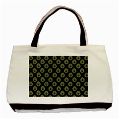 Peacock Inspired Background Basic Tote Bag (two Sides) by Simbadda