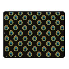 Peacock Inspired Background Fleece Blanket (small) by Simbadda