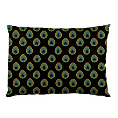 Peacock Inspired Background Pillow Case (two Sides) by Simbadda