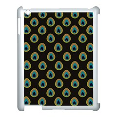 Peacock Inspired Background Apple Ipad 3/4 Case (white) by Simbadda