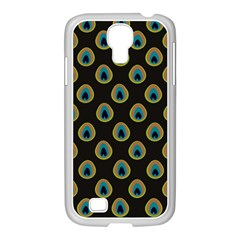 Peacock Inspired Background Samsung Galaxy S4 I9500/ I9505 Case (white) by Simbadda