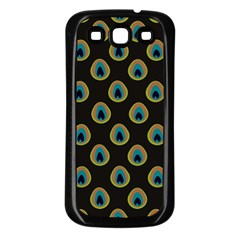 Peacock Inspired Background Samsung Galaxy S3 Back Case (black) by Simbadda