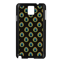 Peacock Inspired Background Samsung Galaxy Note 3 N9005 Case (black) by Simbadda