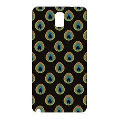Peacock Inspired Background Samsung Galaxy Note 3 N9005 Hardshell Back Case by Simbadda