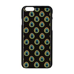 Peacock Inspired Background Apple Iphone 6/6s Black Enamel Case by Simbadda