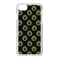 Peacock Inspired Background Apple Iphone 7 Seamless Case (white) by Simbadda