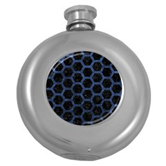 Hexagon2 Black Marble & Blue Stone Hip Flask (5 Oz) by trendistuff