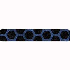 Hexagon2 Black Marble & Blue Stone Small Bar Mat by trendistuff