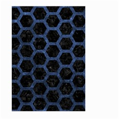 Hexagon2 Black Marble & Blue Stone Large Garden Flag (two Sides) by trendistuff