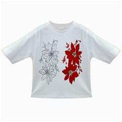 Poinsettia Flower Coloring Page Infant/toddler T Shirts by Simbadda