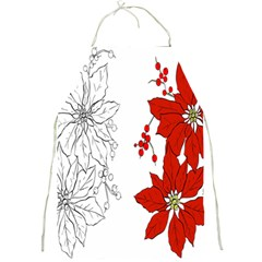 Poinsettia Flower Coloring Page Full Print Aprons by Simbadda